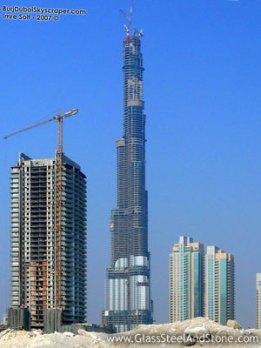 BurjDubai Dalam Tahap Konstruksi